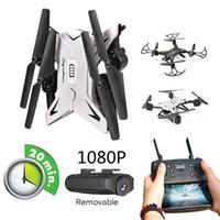 caméra drone à chaud achat en gros de-Drone professionnel RC hélicoptère de vente chaude avec caméra HD 1080 P WIFI FPV Quadcopter Drone Jouets pour enfants 20 Minutes le temps de jeu