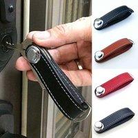 araba anahtarları için deri çantalar toptan satış-Deri 1PC Çanta Kılıf Cüzdan Tutucu Zinciri 4 Renkler Araba Anahtarı Kılıfı PU Anahtar Cüzdan Yüzük