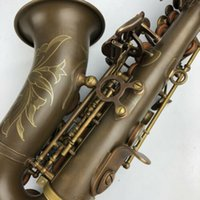 sax c achat en gros de-RODWARE Antique Saxophone Soprano Sib Sib incurvé Sax haut F # avec étui