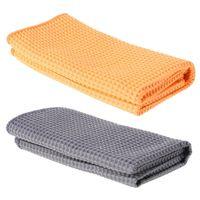чистящие салфетки из микрофибры оптовых-SAILFLO Pineapple Lattice Car Care Microfibre Wax Polishing Soft Microfiber Towel Wash Clean Cloth Car Washer