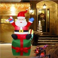hotel inflable al por mayor-Paquete inflables de Santa Claus regalo de Navidad inflable linda estatua Airblown Santa Claus 1.8M 2020 Yard Garden Hotel juguete