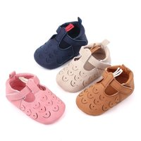 Wholesale baby girl moccasins for sale - Group buy Soft Mary Jane Sole T strap Baby Girls Shoes PU Leather Peacock Baby Moccasin Infants Toddler Boy Kids T bar Shoes