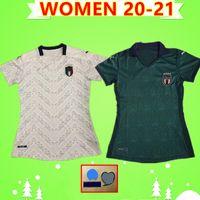camiseta de fútbol verde blanco mujeres al por mayor-MUJERES 2020 2021 jerseys del fútbol de Italia chicas terceros verde blancos ausentes 20 21 maglie da calcio Verratti Jorginho camiseta de fútbol damas