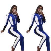 ingrosso vestiti casuali della mutanda di caduta-Tute da donna Autunno Sport 2 pezzi Tops Pantaloni Abbigliamento Imposta Pantalones Abiti casual