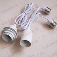 zócalos de lámpara e27 al por mayor-Cable de extensión E27 Holder Pantalla suspensión de la cuerda de conexión Convertidores Adaptadores E26 E27 zócalo del adaptador de la Luz