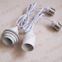 Wholesale e26 socket adapter resale online - Extension Cord E27 Lamp Holder Lampshade Hanging Wire Connecting Converters Adapters E26 E27 Screw Light Socket Adapter
