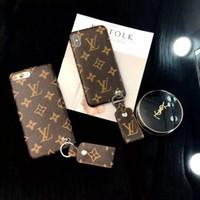 iphone leder gebrandmarkt großhandel-Ein stück luxus marke pu leder designer phone cases für iphone x xs max xr 6 s 7 8 plus rückseitige abdeckung mode telefon case für geschenke