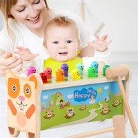 Wholesale knock wood toys resale online - Children s Beat Toys Puzzle Game Hamsters Thrushing Fruits Children s Percussion Wood Hammers Strike Children Knocking Hamsters
