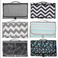 Wholesale baby change diaper bag resale online - Diaper Changing Mats Pads Travel Station Clutch Handbags Foldable Mummy Bag Foldable Nappy Diapers Changing Mat Baby Stroller Hangs A5812