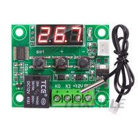ingrosso interruttore a temperatura controllata 12v-W1209 DC 12V LED Termostato digitale di controllo della temperatura Termometro Thermo Controller Switch Module + Sensore NTC Mini termostato
