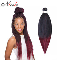 Wholesale ombre hair extensions for braiding for sale - Group buy 2 Nicole inch Easy Jumbo Braids Hair Ombre Braiding Hair Fashion Synthetic Crochet Hair Extension Low Temperature Fiber For Women