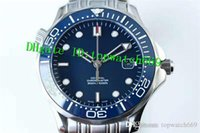 relógio de aço inoxidável resistente a água azul venda por atacado-OE Novo Luxo 007 Relógio Suíço 8500 Automático Azul Safira Dial Azul de Aço Inoxidável Super Resistente À Água luminosa Mens Watch