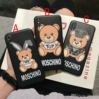 étuis iphone bear achat en gros de-Coque iphone Xs max dessin animé ours couverture pour iPhone 7 7plus 8 8plus 6 6plus Xr X TPU soft shell