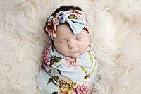 ingrosso grandi coperte a spazzola-Coperta Swaddle Baby Peanut Posh - Grande Premium Knit Baby Coperta ricevente coperta e fascia Set, Baby Shower Regalo appena nato