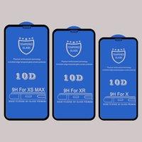 lcd gizlilik filmi toptan satış-ilgili 10D temperli cam ekran koruyucu Iphone 11 pro XR XS MAX x 8 7 6S artı kavisli örtüsü yapıştırıcı tutkal koruyucu cam film için