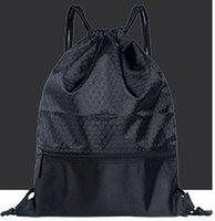 pequenos sacos de nylon venda por atacado-Leeshow tamanho pequeno saco de cordão à prova de água durável, resistente mochila praia nylon, 50pcs pode personalizado com seu logotipo