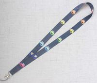 tarjeta que sostiene cordones al por mayor-¡Caliente! Nuevo 20Pcs Classic Sesame Street Cartoon Red Lanyard Teléfono móvil Correa Lanyards Tarjeta de identificación Hold