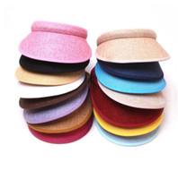 modèles de chapeau de plage achat en gros de-Chapeau de paille d'été pour enfants 2019 Chapeau de plage Parent-enfant modèles dames hommes simple chapeau bonnet de soleil