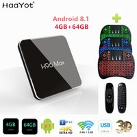 Wholesale box tv dvb t for sale - Group buy HAAYOT H96 MAX X2 Amlogic S905X2 Android Smart TV BOX K Media Player GB GB DDR4 QuadCore USB3 G GHz Dual Wifi Box