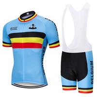 pantalones de lycra verde al por mayor-2019 Equipo de Bélgica ciclismo conjunto 9D pantalones de ciclista Traje Ropa Ciclismo verano del Mens de secado rápido de bicicletas Maillot prenda inferior