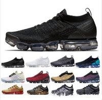 Wholesale knit fabric for sale - Group buy 2019 Knit Fly Men Women BHM Red Orbit Metallic Gold Triple Black Designers Sneakers Trainers Running Shoes With box