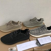 new concept bab25 51fca with box yeezy Classic Designer Shoes 350 Moonrock Oxfod Tan Pirate Black  Turtledove Top Quality Men Women Sneakers Running Shoes 36-48