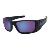 quecksilber sportbrillen großhandel-Qualitätsentwurfsglas-Mattschwarzes / Blau Mercury-Froschspiegellinsenreitsportsonnenbrille freies Verschiffen OK31