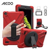 Wholesale armor shockproof ipad mini case resale online - Aicoo Hybrid Shockproof Armor Holder Shoulder Belt for New iPad Air Mini5 Pro11 Samsung Tab A T590 T595 Amazon Fire OPP