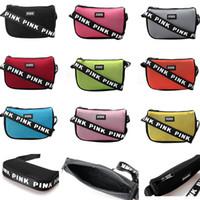 yeni pembe çanta toptan satış-Pembe Mektup Fanny Paketi Bel Çantası Omuz Çantası Messenger Çanta Moda Plaj Çantası Yeni Gelenler