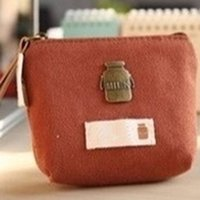 симпатичные женские кошельки оптовых-4 Colors Lovely Fresh Casual Pu Coin Wallet Lady Fashion Cute Pattern Cartoon Dollar Money Bag Canvas Coin Bag Zipper Wallet