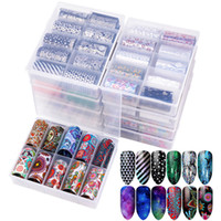 Wholesale nail water decals transfers resale online - 10Pcs Starry Sky Nail Foils Holographic Transfer Water Decals Nail Art Stickers cm DIY Image Nail Tips Decorations Tools RRA2039
