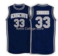 шить номера трикотажные изделия оптовых-1994 баскетбол Джорджтаун #33 Алонсо траур настроить любое количество высокое качество сшитые баскетбол Джерси XS-6XL жилет трикотажные изделия Ncaa