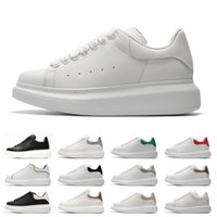 Wholesale red fashion shoes for men for sale - Group buy 2019 Designer M reflective white black leather casual shoes for girl women men pink gold red fashion comfortable flat sneakers
