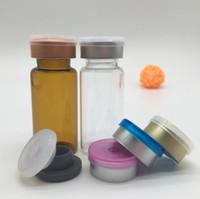 frascos de injeção vidro transparente venda por atacado-500 pcs 10 ML Clear Injection Glass Frasco com Flip Off Cap E Rasgar Cap, 10cc Recipientes De Vidro Medicamento Líquido novo