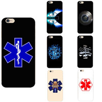 fotos de la vida al por mayor-Ambulance Hospital Star of Life Theme TPU Phone Cases Funda de silicona Imagen de foto para iPhone 678 S XR X Plus Todos los modelos de teléfonos