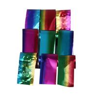 3d nail art bow yeni toptan satış-Dekorasyon için tırnak 9 ADET Tasarım Nail Art Folyo Etiketler Transferi Çıkartması İpuçları 2.5 * 20 CM Manikür Dekor nagel çıkartmalar 0109
