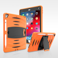Wholesale apple ipad tablet skins resale online - Silicone Case with Pencil Holder for iPad Pro New iPad Tablet Shockproof Cover for iPad Air
