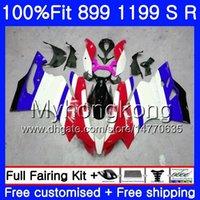 1199 verkleidungen großhandel-Einspritzung für DUCATI 899 1199 S R Panigale 12 13 14 15 16 glänzend blau 325HM.24 899R 1199R 899S 1199S 2012 2013 2014 2015 OEM-Verkleidung