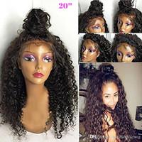 brazilian bakire indian saç toptan satış-İnsan Saç Peruk Dantel Ön Brezilyalı Malezya Hint Kıvırcık Saç Tam dantel Peruk Remy Bakire Saç Siyah Kadınlar Için Dantel Ön Peruk