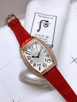 marca relógios diamantes venda por atacado-Nova marca top mulheres relógio com couro de quartzo relógio de diamantes mulheres relojes especial mujer senhora moda dress watch melhor presente