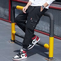 Wholesale gore tex xl resale online - 2020 New pattern fashion Pants Summer Joggers Pants Men Streetwear Wide Leg Casual Loose Big Track Sweatpants