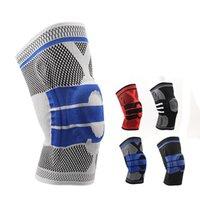 ingrosso cinturino per ginocchio pallacanestro-Il nuovo supporto ginocchio elastico Brace ginocchiere Patella regolabile Pad Pallavolo ginocchio di pallacanestro di sicurezza della protezione Strap Protector