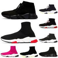 erkek çorapları toptan satış-Tasarımcı çorap ayakkabı üçlü siyah beyaz erkekler kadınlar Chaussures moda erkek eğitmen koşucu platformu sneakers 36-45