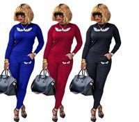 jersey de moda al por mayor-Vogue clásico Little monster Hoodies Suit Moda para mujer Chándales Sudaderas Conjunto Casual de algodón pullover Ropa deportiva