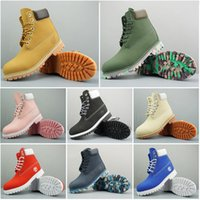 botines negros para mujer al por mayor-Original, diseñador de moda para hombre Timberland botas de invierno de las mujeres de las mujeres negras de la castaña Triple trabajan Martin botas de nieve de combate BOOTIE 36-45