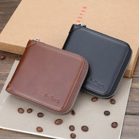 Wholesale leather zip around wallet resale online - Designer Mens Leather Zipper Wallet Zip Around Wallet Bifold Multi Card Holder Purse LXX9