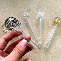 ingrosso tubi di palle-Più nuovo colorato ciambella 30mm palla vetro pyrex bruciatore di olio trasparente bruciatore di olio tubo di vetro tubo di olio combustibile tubi di vetro tubi di acqua