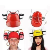 Wholesale lazy straws for sale - Group buy Drinking Helmet Beverage Straws Hat Beer Cola Coke Lazy Cool Funny Hand Free Party Supplies jd F1