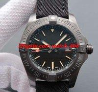 reloj de titanio para hombres al por mayor-Nueva versión de lujo del reloj del mirlo 44mm Negro Titanio Hombre Reloj V1731110 hombres de la moda automática reloj de los relojes