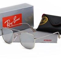 роговые линзы оптовых-Солнцезащитные очки бренда класса люкс для мужчин с квадратными прозрачными линзами.